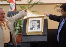 Nicolás Aguilar Murillo el Héroe libertador de la patria, ya cuenta con un retrato en la Asamblea Legislativa