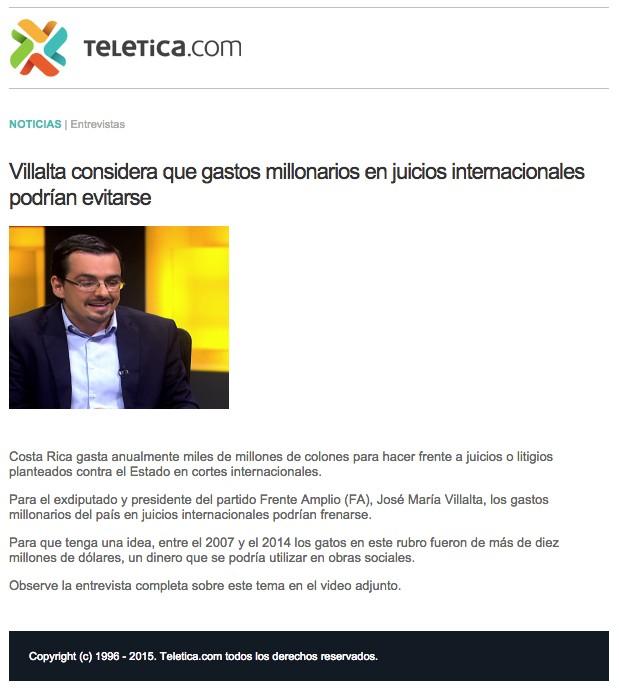 Entrevista a Villalta